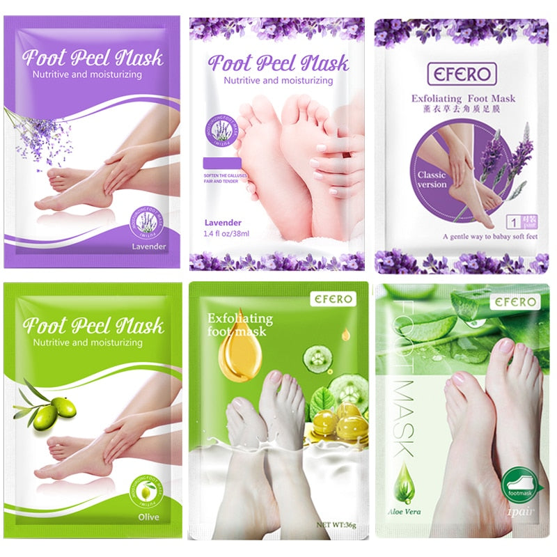 6Pair/Set Exfoliating Foot Peeling Mask Spa Socks for Pedicure Dead Skin Feet Mask for Legs Health Moisturizing Foot Care