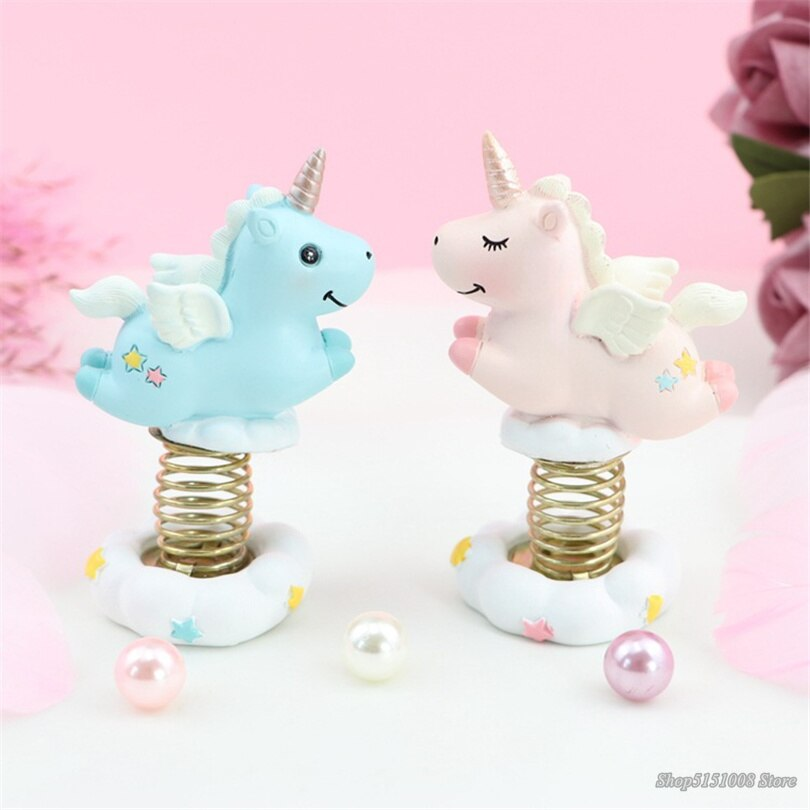 Resin Moon Unicorn LED Night Light Cartoon Baby Nursery Lamps  Children Toy Gift Kids Room Craft Table Lights decor unicorn lamp