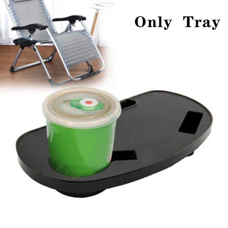 1pc Folding Tray Holder Reclining Chair Clip on Side Table Cup Drink Holder Garden Lounger Tray (no chair, only tray)