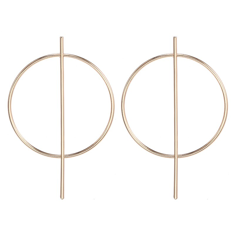 Big Round Drop Earrings For Women Gold/Silver Simple Jewelry Female 2019 Fashion Accessories Girls Earring Brincos
