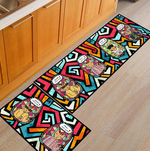 2PCS Kitchen Mat Cheaper Anti-slip Modern Area Rugs Living Room Balcony Bathroom Carpet Set Doormat Bath Mat in The Hallway