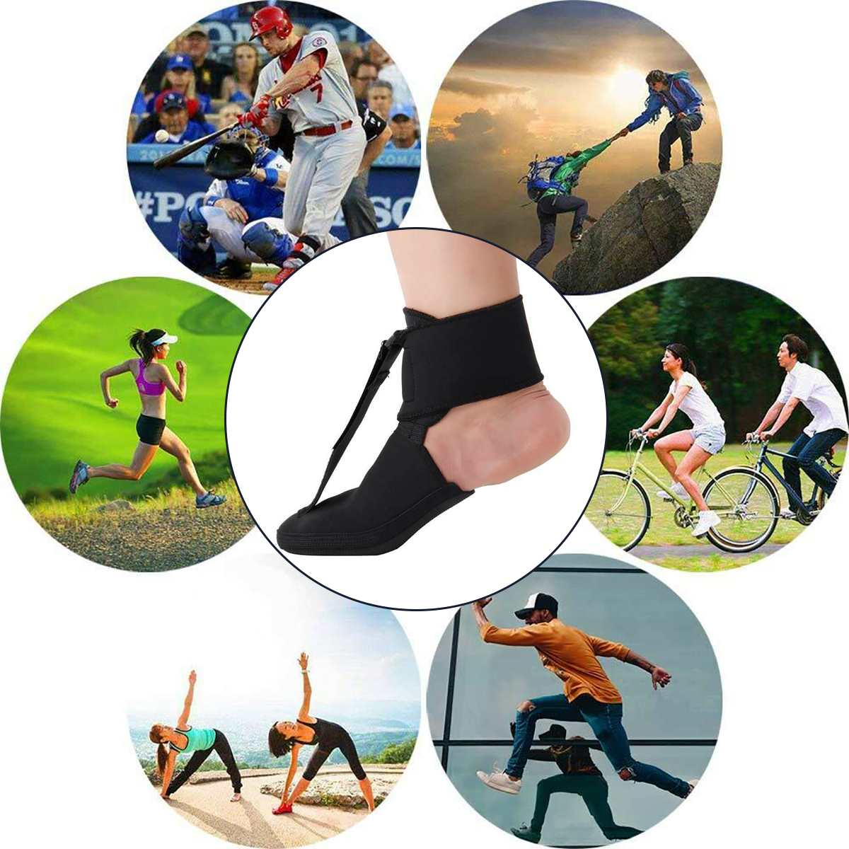 NEW S/M/L Black Adjustable Plantar Fasciitis Night Splint Sport Pain Toe Foot Brace Support Stabilizer Ankle Protector