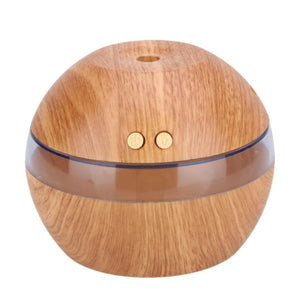 Air Freshener Mini Humidifier for Home Office Aroma Essential Oil Diffuser Air Purifier Wooden USB Ultrasonic Mist Maker