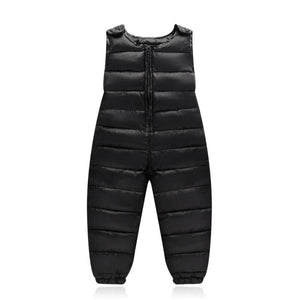Baby Children's Warm Strap Pant for Girls Boys Winter Down-Cotton Jumpsuit Overalls Suit 2019 Kids Casual Rompers Clothes Sets