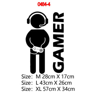 Carved Gamer Wall Sticker Vinyl Mural Wallpaper For Kids Boys Room Decoration Decals Ps4 Gaming Poster Decor Door Stickers