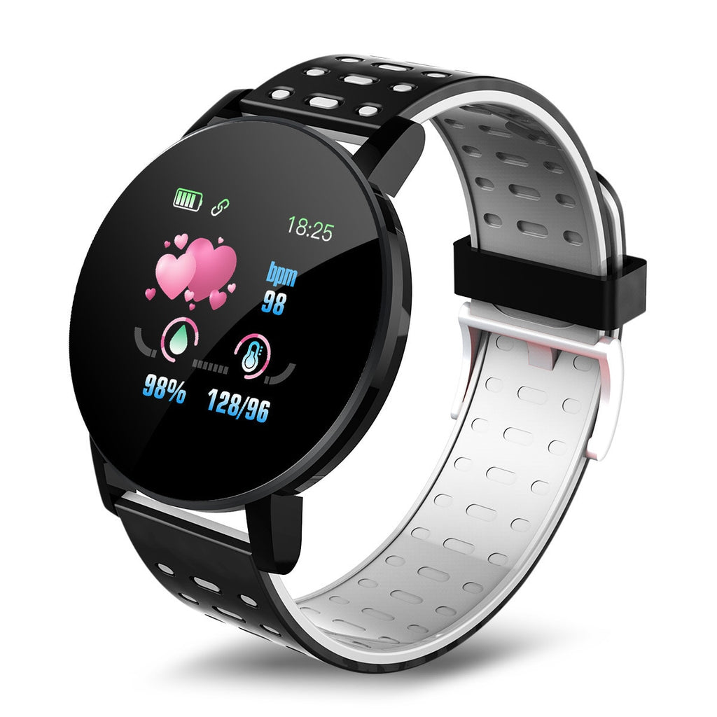 NFC 2020 NEW 119 plus Smart Watch Pressure Round Bluetooth Smartwatch Women's Watch Waterproof Sports Tracker for Android Ios