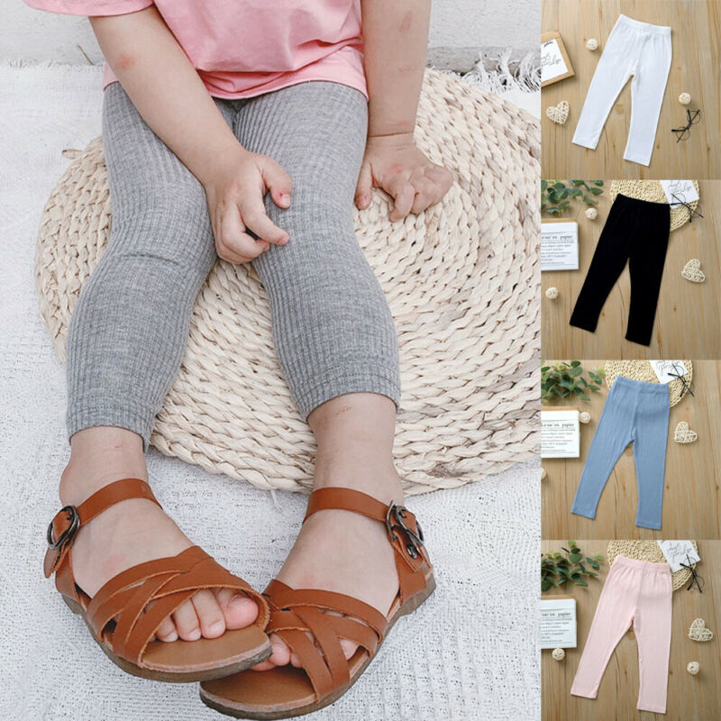 Newborn Baby Girls Kids Winter Warm Cotton Thick Leggings Stretchy Thermal Underpants Pant Trouser Solid Candy Color Skinny