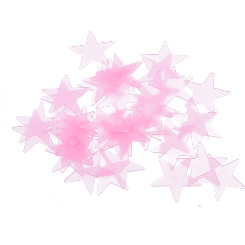 Hoomall 100pcs PVC Wall Sticker 3D Star Glow In Dark Luminous Fluorescent For Kids Room