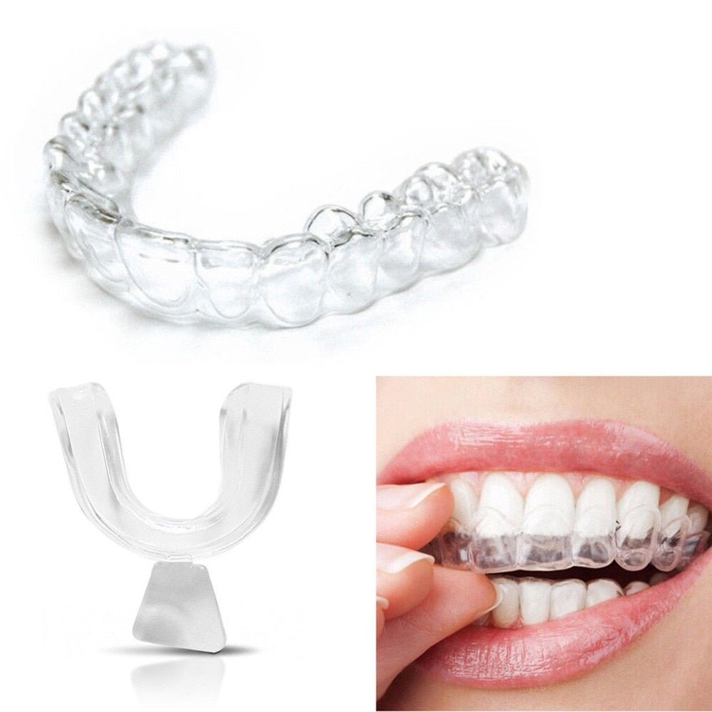 2PCS Mouth Guard Night Guard Gum Shield Mouth Trays for Bruxism  Anti Snoring Teeth Whitening Grinding Boxing Teeth Protection