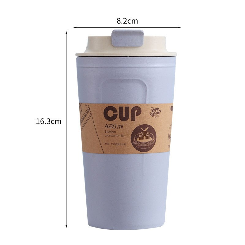 Cute Reusable Travel Bottle To Go Coffee Cup Bottle With Lid Bamboo Bottle for Tea Juice Coffee Cup Leakproof Mugs Drinkware