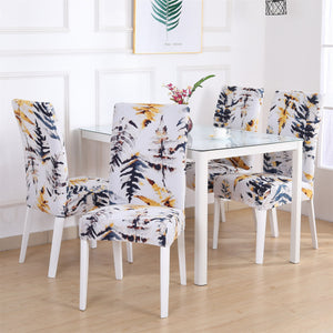 2/4/6PCS Modern Elastic Spandex Chair Cover Removable Stretch Slipcovers Chair Protection Covers For Banquet Wedding Restaurant