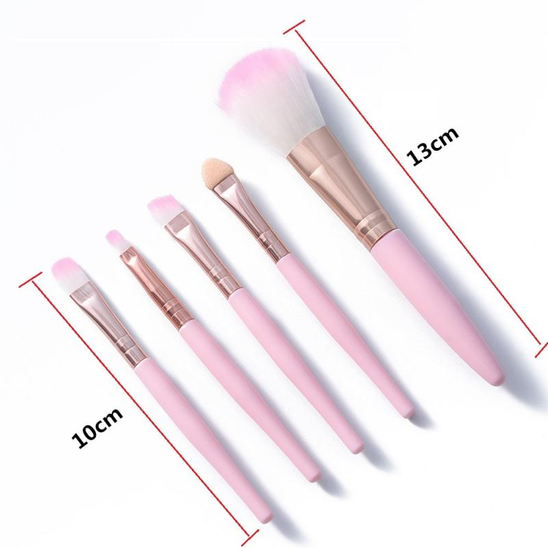 Pro 5Pcs/set Eye Makeup Brushes Set Eye Shadow Eyeliner Eyelash Eyebrow Blush Power Facial Makeup Cosmetic Tools
