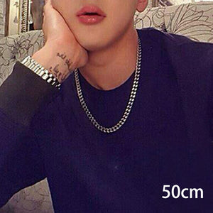 6MM Men's Round Miami Cuban Link Chain Necklace punk style Stainless Steel Hiphop Boy Male Jewelry collier femme for man women
