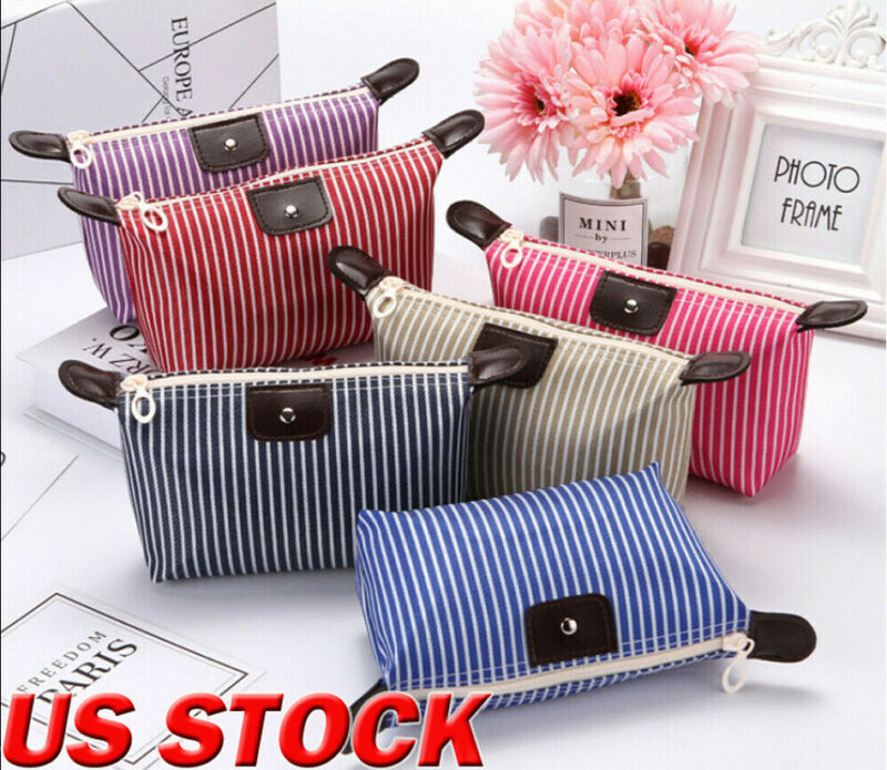 Multifunction Beauty Cosmetic Makeup Bag Organizer Zipper Handbag Travel Toiletry Waterproof Case Pouch Beige Black Blue Purple