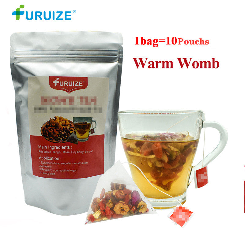 1Bag=10Pouch Furuize Warm Womb Detox Feminine hygiene  Irregular Menstruation Herbal Uterus Cleansing Warming Womb Health Care