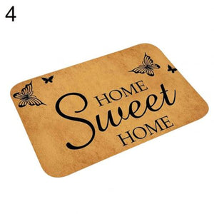 40*60 Bathroom Kitchen Floor Mat Welcome Sweet Home Letter Doormats Entrance Doormat Anti Slip Floor Mats for Living Rooms