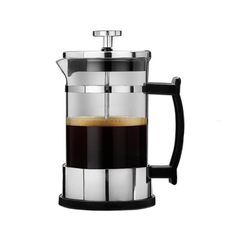 350ML Manual Coffee Espresso Maker Pot Stainless Steel Glass Teapot Cafetiere French Coffee Tea Percolator Filter Press Plunger