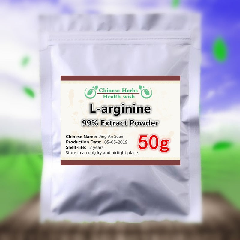 50-1000g,High Purity (>99% ) L-arginine powder, L arginine powder, Essential Amino Acid - Nutrition and Amino acid Supplement