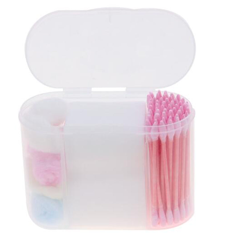 Portable Travel Soft Cotton Makeup Cosmetic Remover Disposable Medical Cure Health Beauty Swabs Buds Balls Random Color PJ78