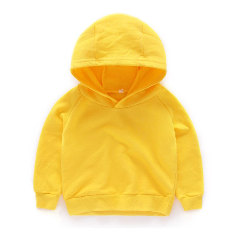Kids Girls Boys Hoodies Outerwear White Red Yellow Black Grey Hooded Girls & Boys Sweatshirt Kids Clothes for 3 4 6 8 10 Years