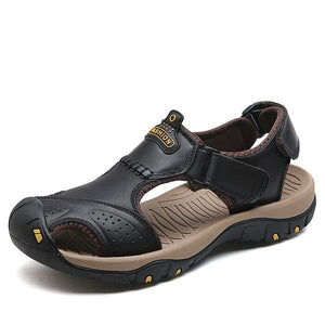 ZUNYU Male Shoes Genuine Leather Men Sandals Summer Men Shoes Beach Sandals Man Fashion Outdoor Casual Sneakers Size 48
