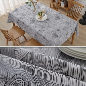 LOVRTRAL Retro Wood Grain Printed Cotton Sheets Towel Table rice Cotton Linen Tablecloth Decorative Cover Kitchen Home Decoratio