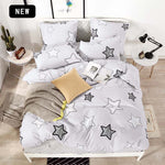 Alanna Printed Solid bedding sets  Home Bedding Set 4-7pcs High Quality Lovely Pattern with Star tree flower