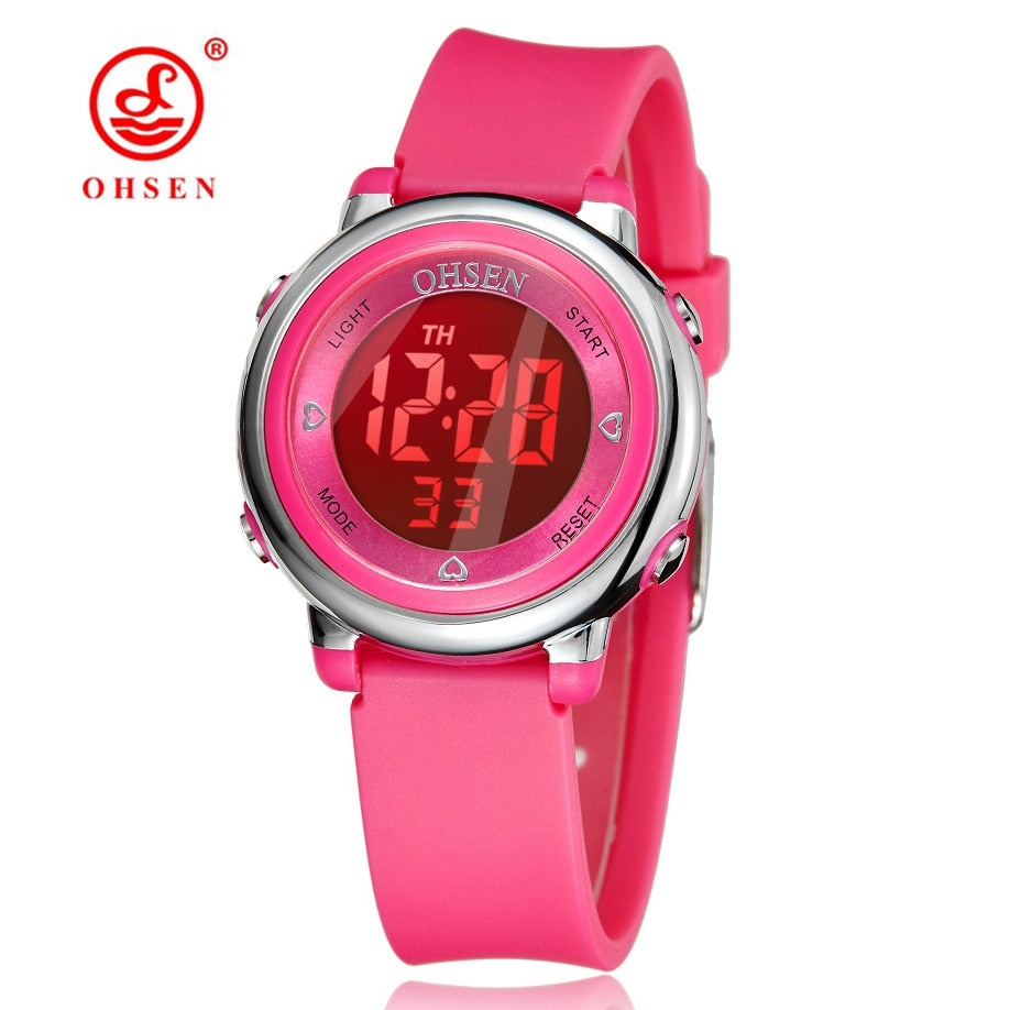 Kids Watches Children Digital LED Fashion Sport Watch Cute boys girls Wrist watch Waterproof Gift Watch Alarm Men Clock OHSEN