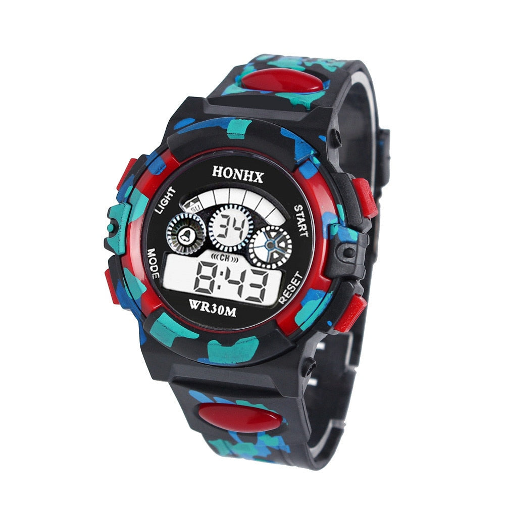 Outdoor Multifunction Chidren Digital Watches Boys Girls Child Rubber Sports Electronic Wrist Watch Kids LED Date Clock Reloj