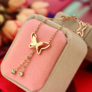 New Butterfly Pendant Anklets Foot Chain Summer Beach Leg Bracelet For Women Girl Charms Barefoot Sandals Jewelry