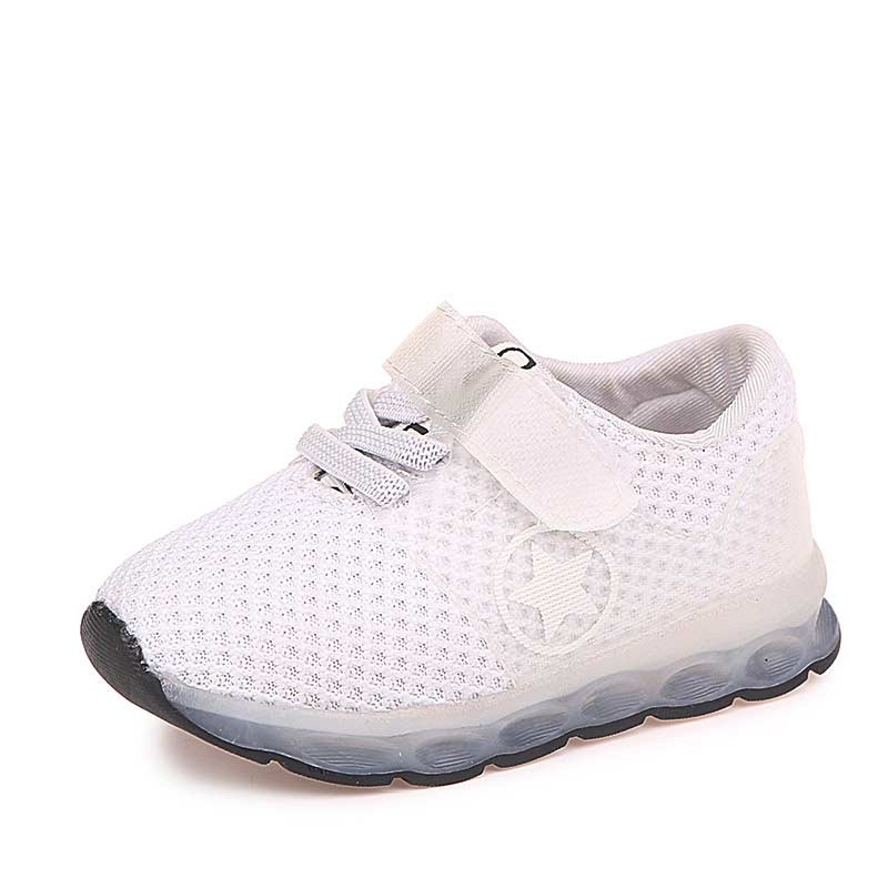 Children running shoes solid athletic shoes breathable mesh girls & boys sneakers lighted children tennis kids sneakers