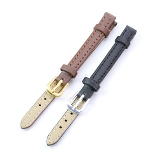 Way Deng - Women Girls Vintage Soft Plain PU Leather Watchbands Silver/Gold Pin Buckle Watch Strap Band 8mm Accessories - Y149