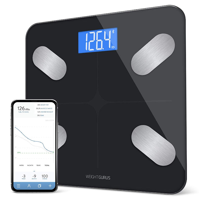 Tempered glass Bathroom Scales Bluetooth Digital Body Fat Scale from , Body Composition Monitor and Smart Bathroom Scale D30