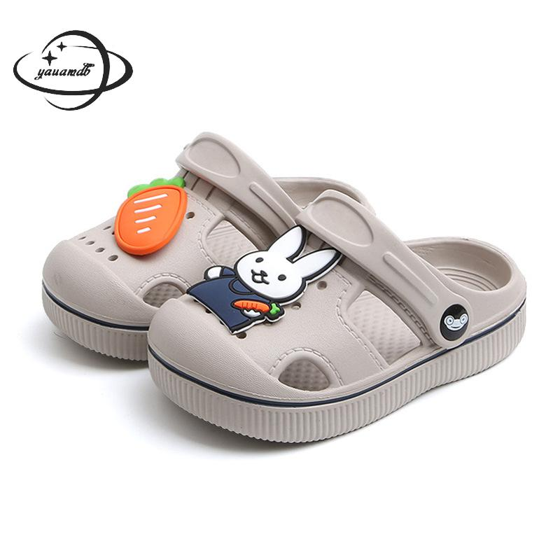 kids Mules & Clogs summer baby infant Toddler boys girls sandals flat heels rabbit turnip slippers children garden shoes y17