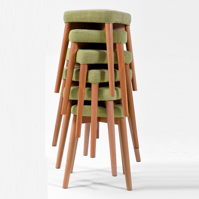 Stool Home Solid Wood Fabric Dining Stool Makeup Dressing Stool Fashion Creative Chair Simple Modern Adult Small Bench