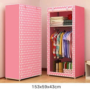Actionclub Simple Small Wardrobe Folding Clothes Storage Cabinet Student Dormitory Economic Closet Non-woven Cloth Closet