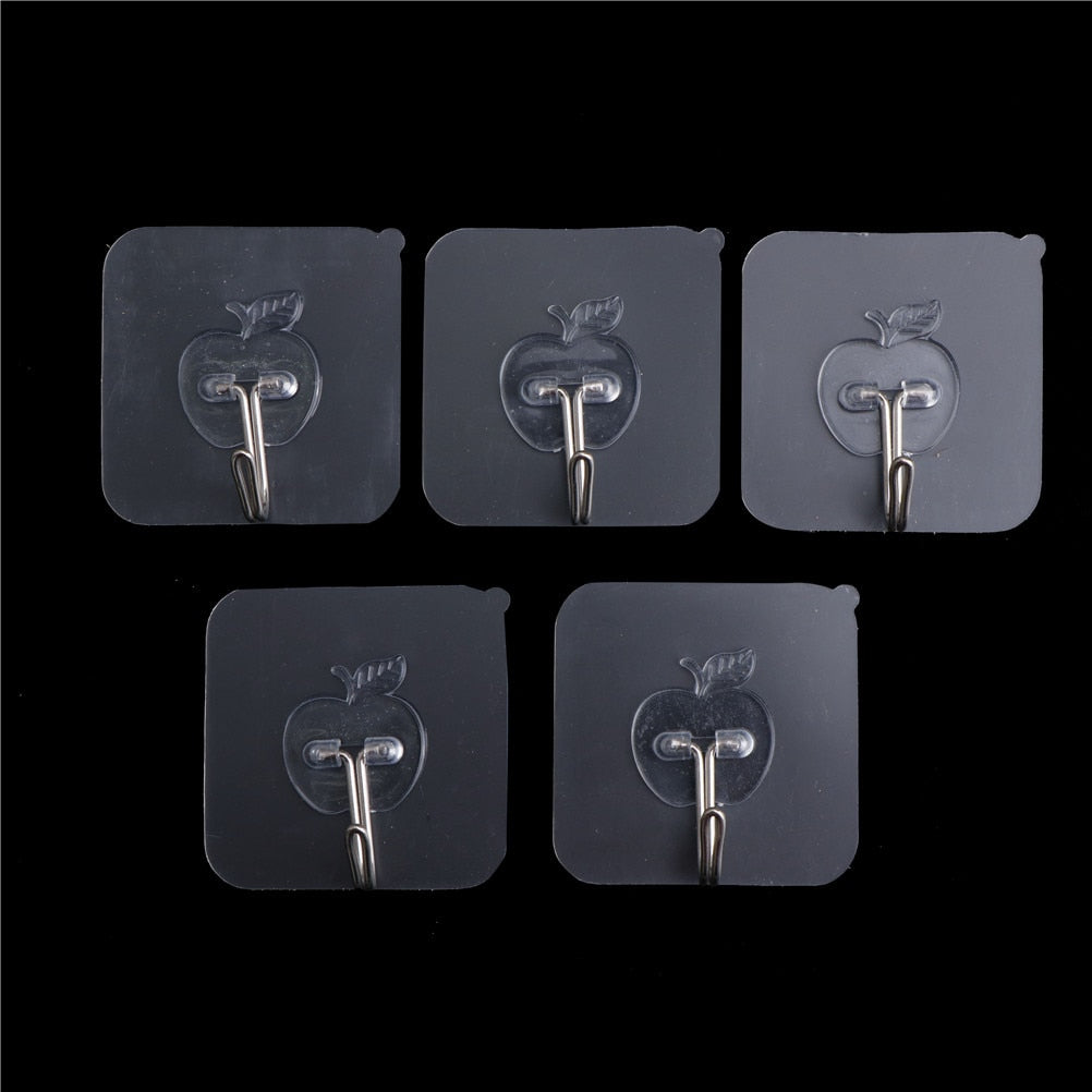 Bathroom Accessories 5PCs Transparent Suction Cup Sucker Wall Hooks Hanger Wall Storage Hangers mutfak For Kitchen Holder