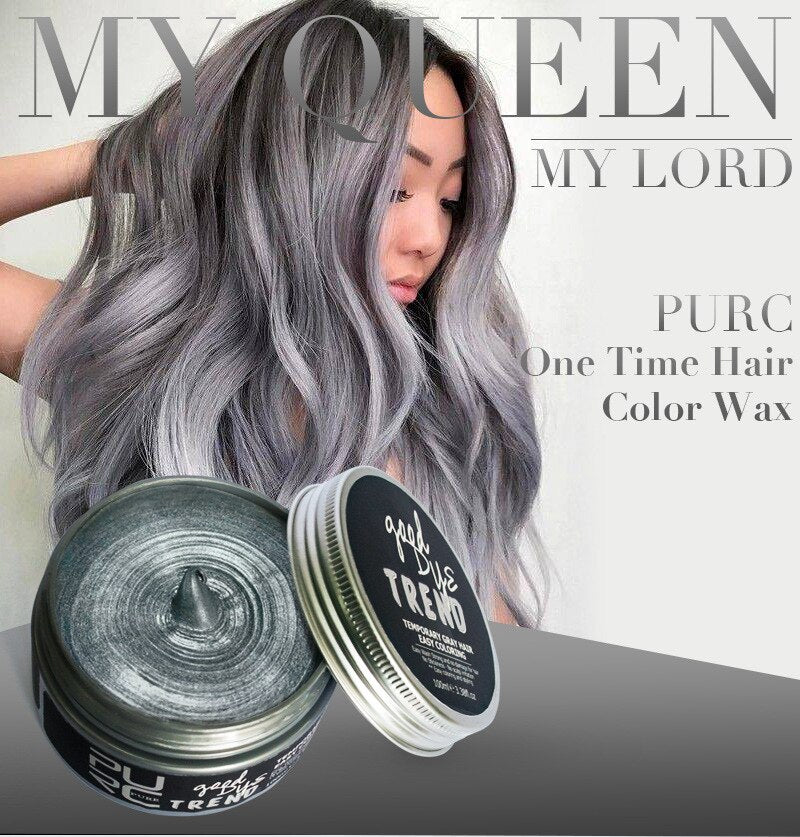 One-time Fashion Hair Coloring Temporary Dye Cream Silver Grey Blue Red Green Color Wax Dye Styling Products Unisex Grandma Grey