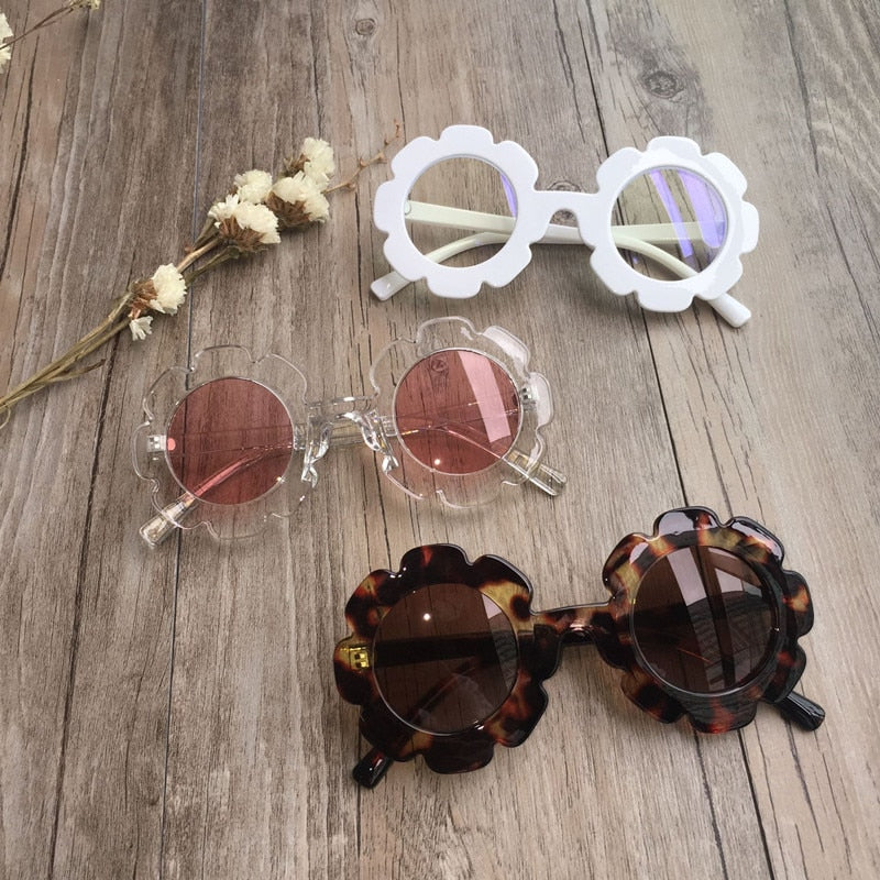 Vintage Kids Sunglasses Child Sun Glasses Round Flower Gafas Baby Children UV400 Sport Sunglasses Girls Boys Oculos De Sol