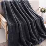 150x210cm Universal Lamb Velvet Blankets for Beds Long Plush Solid Throw Blanket Warm Tapestry Sleeping Home Use Blankets Adults