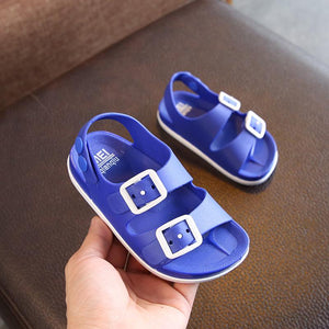 Summer Boys Leather Sandals for Baby Flat Children Beach Shoes Kids Sports Soft Non-slip Casual Toddler Sandals 1-5 years