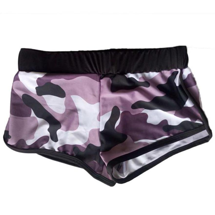 New Fashion Summer Women's Shorts Sexy Shorts Camouflage Mid Waist Loose Drawstring Waist Ringer Shorts Trousers pantalones 30P