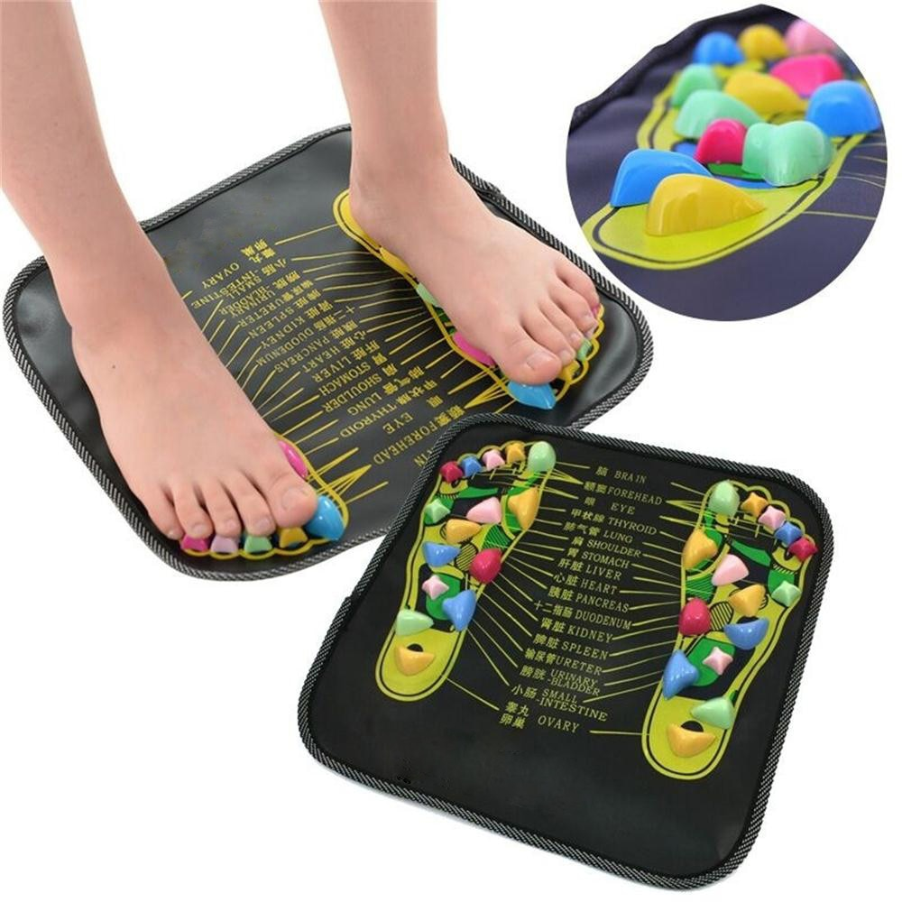 Reflexology Walk Stone Foot Leg Pain Relieve Relief Walk Massager Mat Health Care Acupressure Mat Pad massageador M29