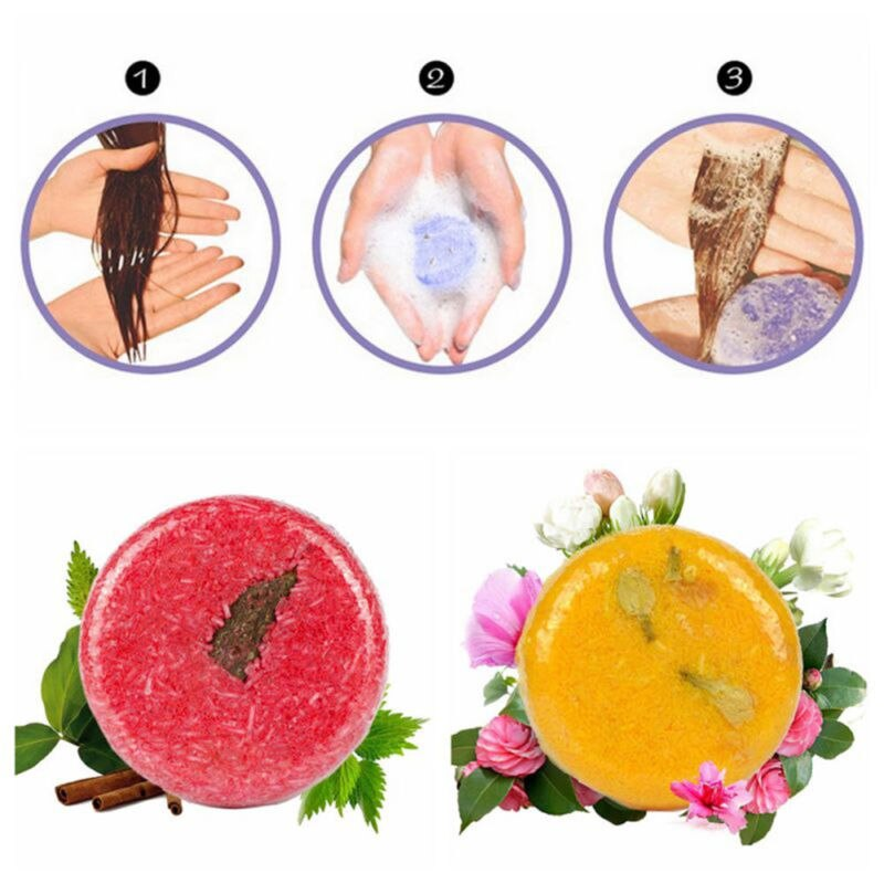RUIMIO Shampoo Bar Soap Hair Growth Solid Shampoo Conditioner Bath Bar Soap for Cleaning (Cinnamon & Jasmine & Lavender & Mint)