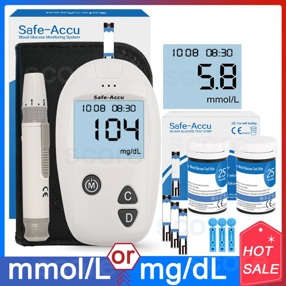 Accu blood glucose meter & Test Strips & Lancets 50/100pcs Glucometer kit Diabetic Blood Sugar meter Diabetes Tester