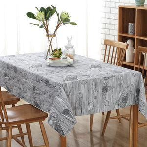 LOVRTRAL Retro Wood Grain Printed Cotton Sheets Towel Table rice Cotton Linen Tablecloth Decorative Cover Kitchen Home
