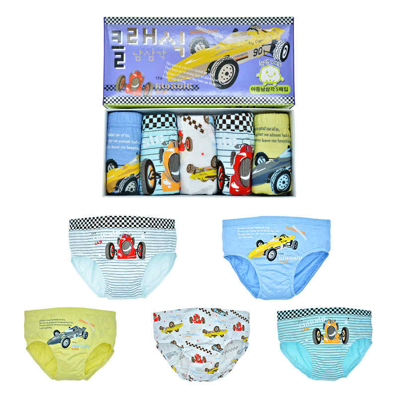 5 Pcs/lot Kid Boys Underwear cartoon For Baby Shorts Panties Children's Boxer Underpants Briefs boys Underware Pants For 3-13Y