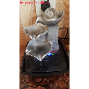Vintage Home Decor Indoor Water Fountains Resin Feng Shui Fountain Figurine Fontaine Interieur Decoracion Hogar Accessories