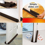 1Pcs Hot Guard Stopper Twin Door Decor Protector Doorstop Draft Dodger Energy Saving Home