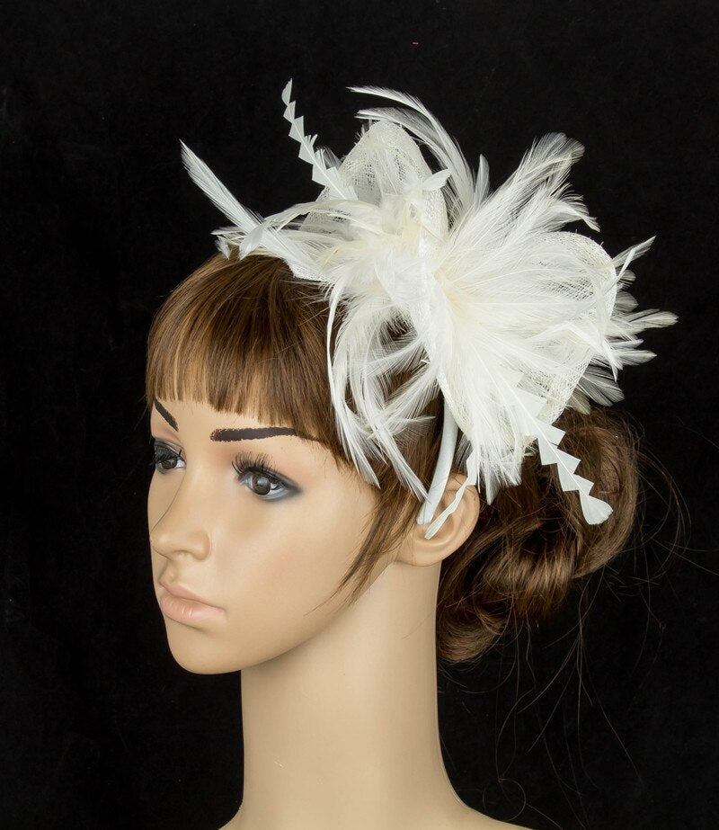 Fashion sinamay special chic fascinator feather party hats headwear church headpiece wedding occasion hair accessories MYQ081